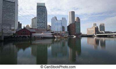 Time lapse tilt shot Boston
