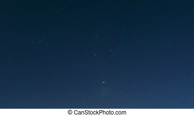 Night Starry Sky Background. Night View Of Natural Glowing ...
