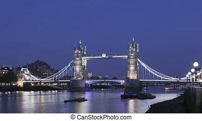 Time lapse Tower Bridge London - Time lapse medium close up...