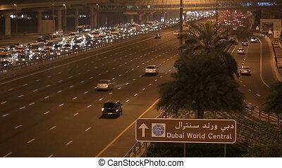 time lapse traffic jam on Sheikh Za