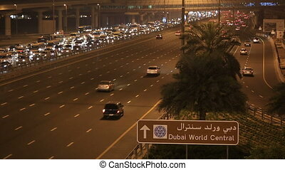 time lapse traffic jam on Sheikh Za