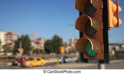 time lapse traffic lights