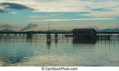 Time lapse video of Ko Yo island fisherman village, Thailand...