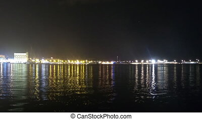 Time-lapse video of the old town Split in Croatia at night.