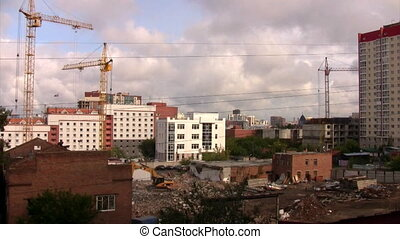 Time lapse view of the construction