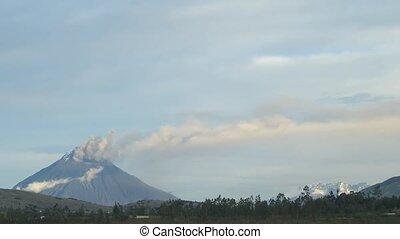 Time lapse volcano