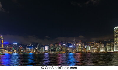 Time lapse with Hong Kong Skyline - Time lapse of Symphony...