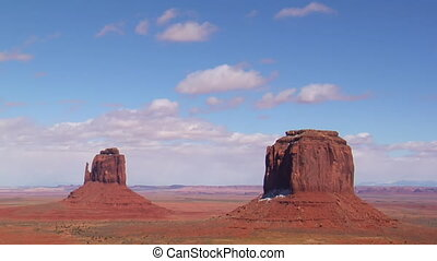 time lapse with snow monument Valley Utah