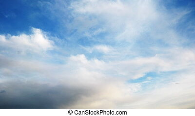 Time lapse with very fast moving cirrus clouds. No birds and...