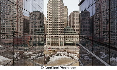 Time lapse zoom Boston Skyscraper - Time lapse zoom in...