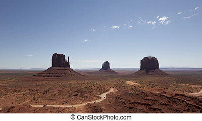 time lapse zoom in Monument Valley