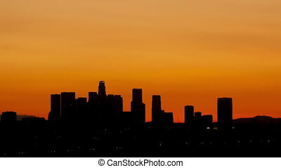 Time lapse zoom out Los Angeles