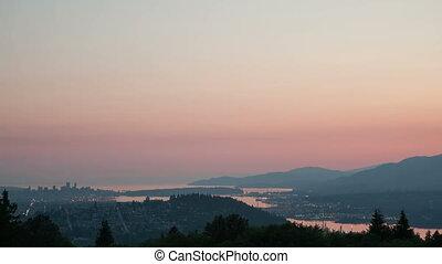 Time lapse zoom Vancouver cityscape