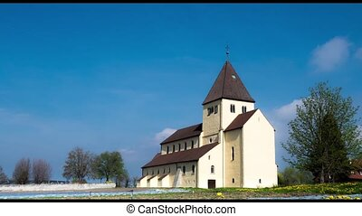 Time lapse.UNESCO. The old church built in the 9th century....