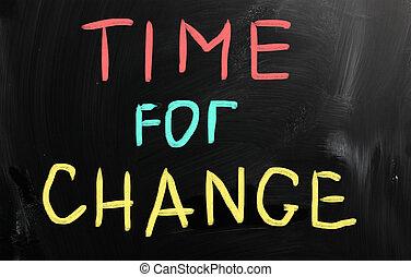 """""""time, lavagna, change"""", gesso, bianco, scritto mano"""