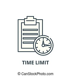 Time limit vector line icon, linear concept, outline sign, symbol