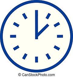 Time line icon concept. Time flat vector symbol, sign, outline illustration.