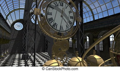Time machine animated in Steam Punk style 4K - An animation...