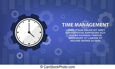 Time management and schedule for business concept