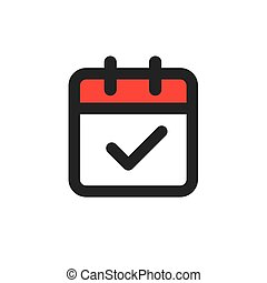 Time management and Schedule icon for upcoming event - ...