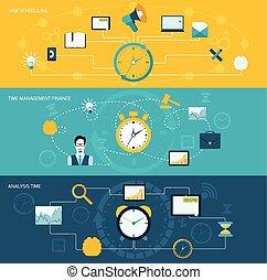 Time management banner set