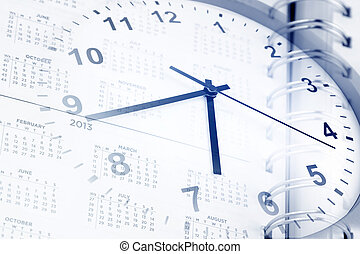 Time management - Clock and diary page dates