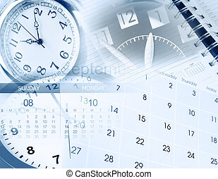 Time management - Clock faces, calendar and diary