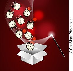 Expert time management system concept - out of the box