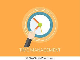 time management concept flat icon