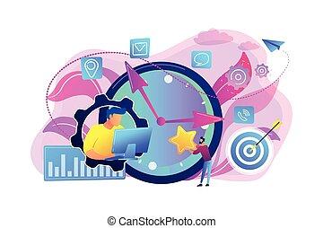 Time management concept vector illustration.