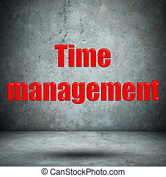 Time management concrete wall