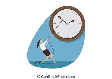 Time management, deadline, business concept
