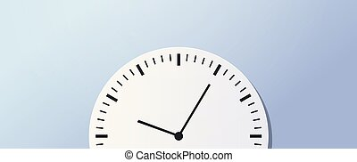 Time management deadline business timing concept circle clock icon horizontal banner