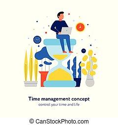 Time Management Flat Composition