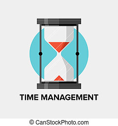 Time management for business and personal development concept, efficiency planning and success productivity organization for progress improvement. Flat design style modern vector illustration. Isolated on white background.