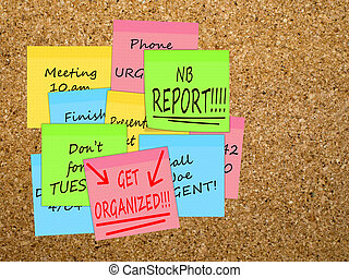 Time management, get organized, overwork business concept -...