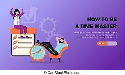 Time Management Horizontal Banner