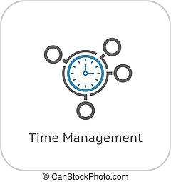 Time Management Icon. Business Concept.