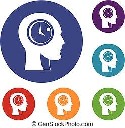 Time management icons set