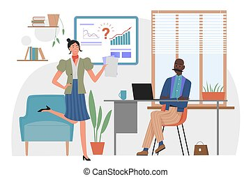 Time management in office, business project deadline concept