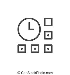 Time management line outline icon