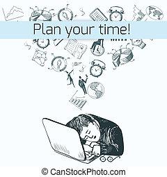 Time management poster sketch