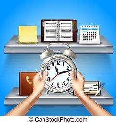 Time Management Realistic 3d Composition