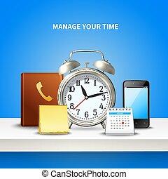Time Management Realistic Composition
