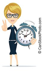 Time management. Stock flat vector illustration.