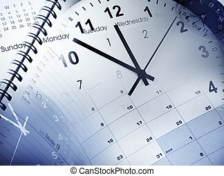 Time management - Clock faces, calendars and diary