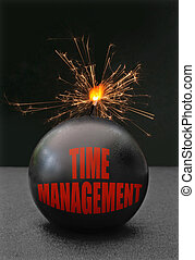 Time management  - Lit bomb labeled time management