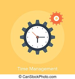 Vector illustration of time management flat design concept.