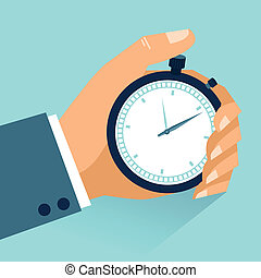 Time management. Vector modern illustration in flat style...