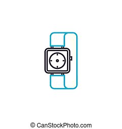 Time management vector thin line stroke icon. Time management outline illustration, linear sign, symbol concept.